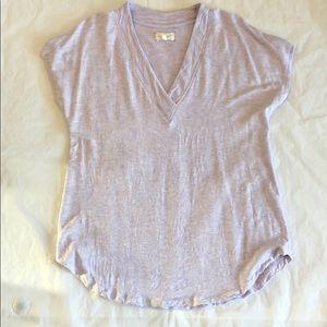 Lou & Grey Pale Purple Short Sleeve T-Shirt Size S